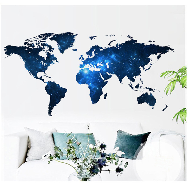 1 pcs big global planet diy world map 3d wall sticker vinyl wall sticker home decor