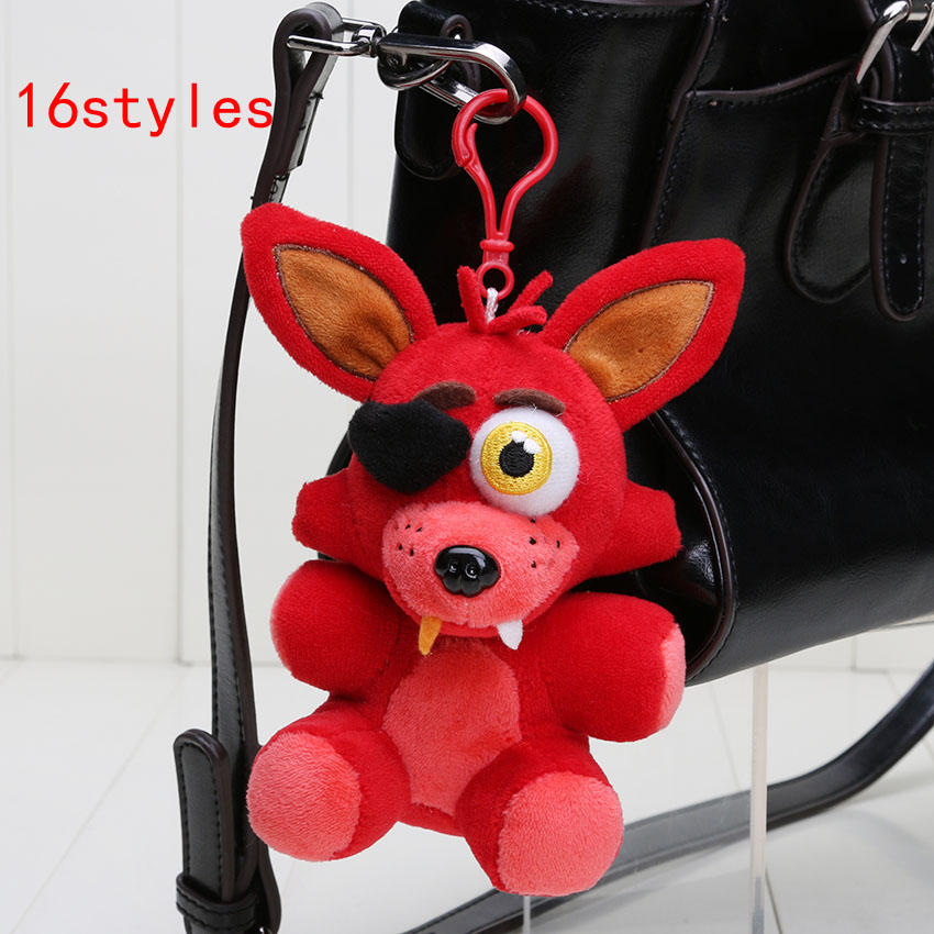 14cm Five Nights At Freddy's Sister Location FNAF Freddy Bear Nightmare Springtrap Mangle Foxy Bonnie Keychain Pendant Plush Toy