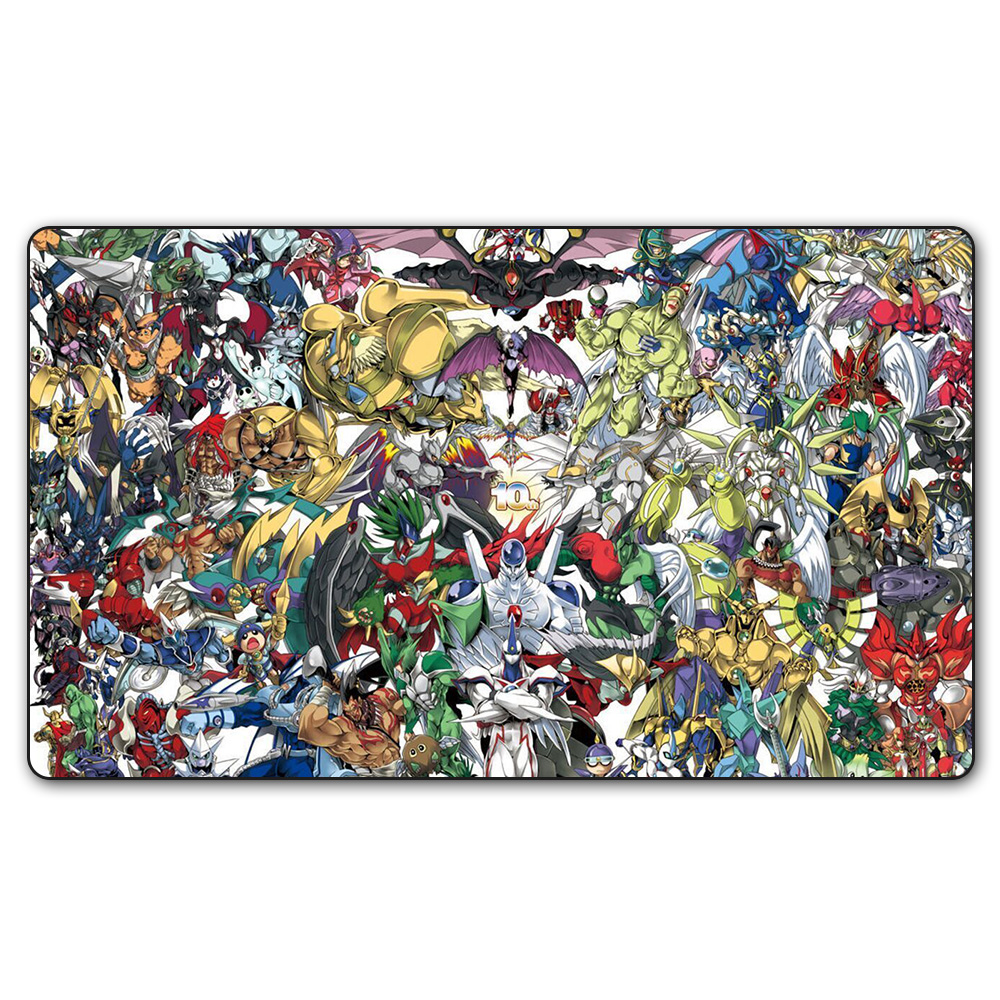 (YGO 25 Playmat) 35X60CM YU-GI-OH All Characters 10 Year Play Mat Board Games YGO Card Games Table Pad with Free Gift Bag