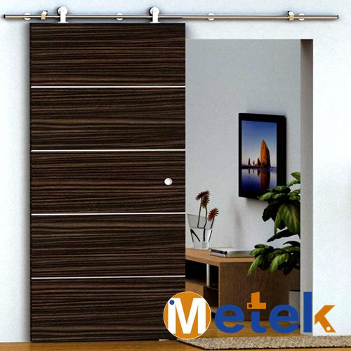 ФОТО Stainless steel  frameless sliding wood barn door track