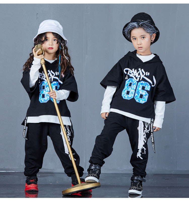 boys hip hop clothing set 1073-11