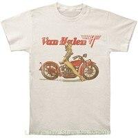 مان فريد القطن قصيرة الأكمام س الرقبة تي شيرت فان هالين السائق pinup البيج رجل t-shirt كبير
