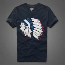 Causal t shirt Americal style men tees with pattern size S to XXXL