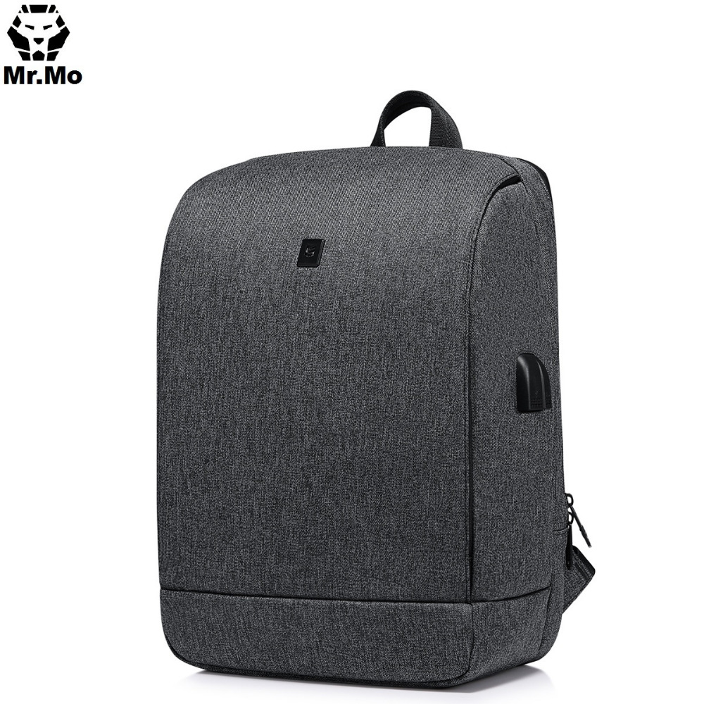 Men Fashion Waterproof Anti theft Backpack Back pack With Charger 14 15.6 Inch Laptop Backpack Security Backpack Travel Bags
