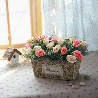 Artificial Silk Rose Wedding Fake Flower Floral Arrangements Table Centerpieces Gift Home Kitchen Garden Living Room