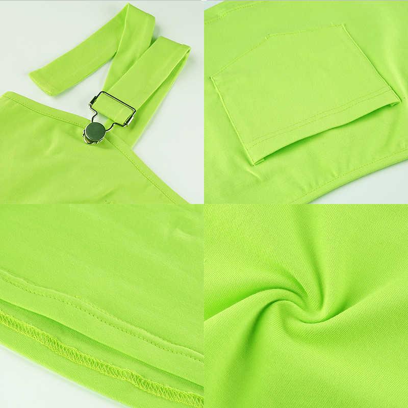 Rockmore الأخضر 2019 الصيف السباغيتي حزام القطن Strappy و خزان أعلى النساء حمالة بروتيل عارضة المحاصيل قمم فام الشارع الشهير