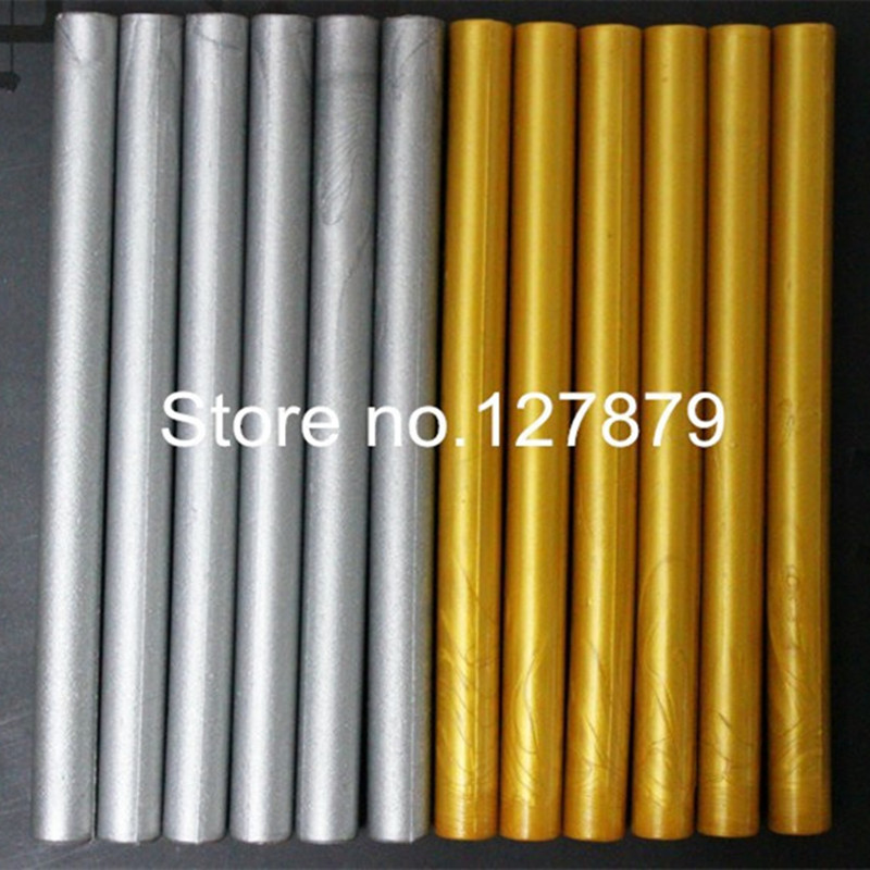 36pcs High Quality Gold Silver Sealing Wax Stick for Wedding Invitation Fire paint