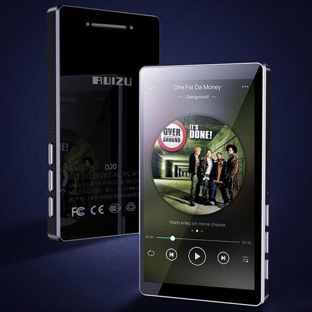 2020 mais novo leitor de mp3 ruizu d20 3.0 Polegada tela sensível ao toque completo alto falante de alta fidelidade lossless leitor de música com fm, player de vídeo