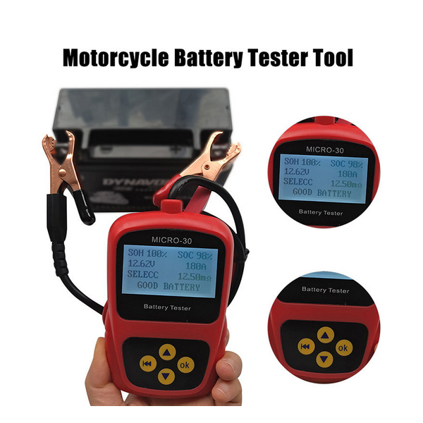 LANCO MICRO 30 Motorcycle font b Battery b font Tester LCD Display 12V font b Battery