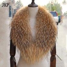 Головные уборы из натурального меха енота воротник пальто с мехом женские Свитер шарфы с круглым воротником с воротником из меха енота