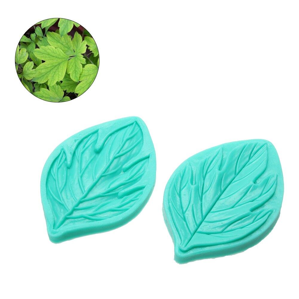 10.5*7 cm molde de silicona peony flower hoja fondant herramientas de decoración