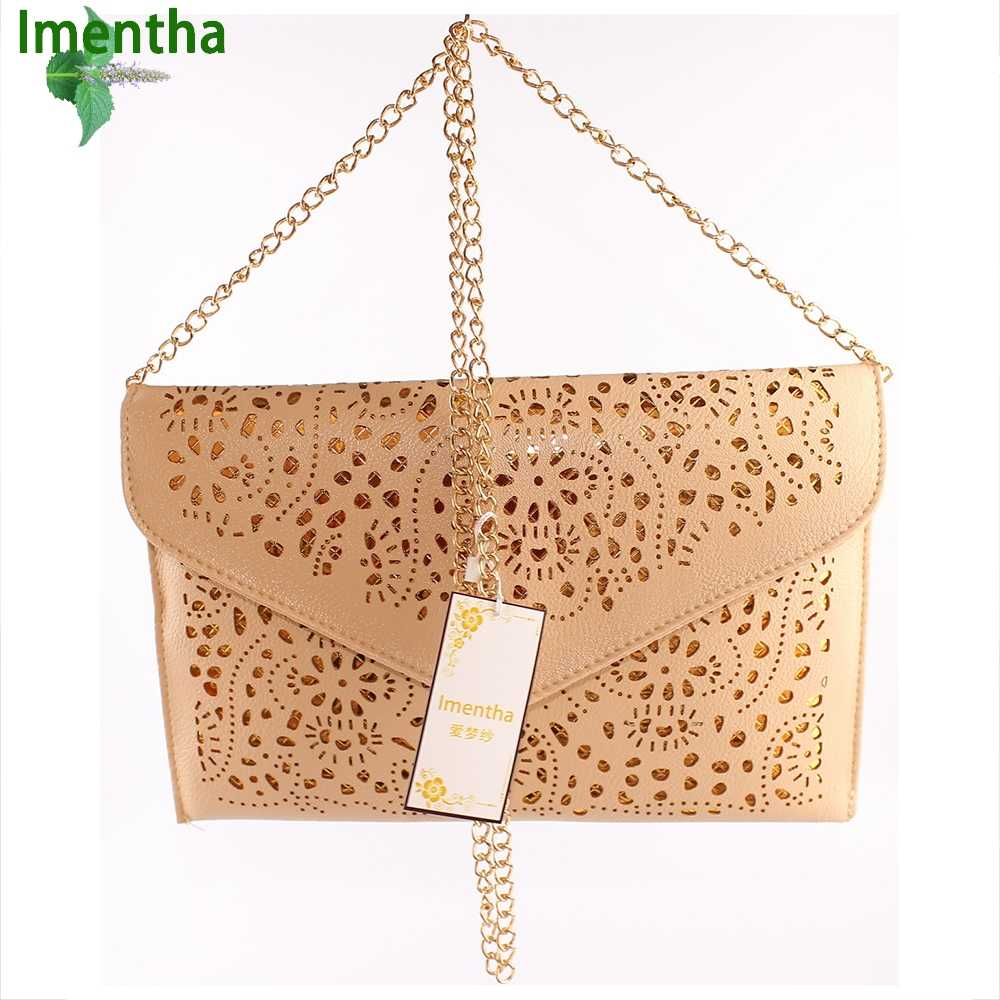 d4681943ef2 ... Cutout Women Clutch Bag Female Hollow Cut Out Brown Envelope Clutch  Purse Chain Evening Clutch Bags ...