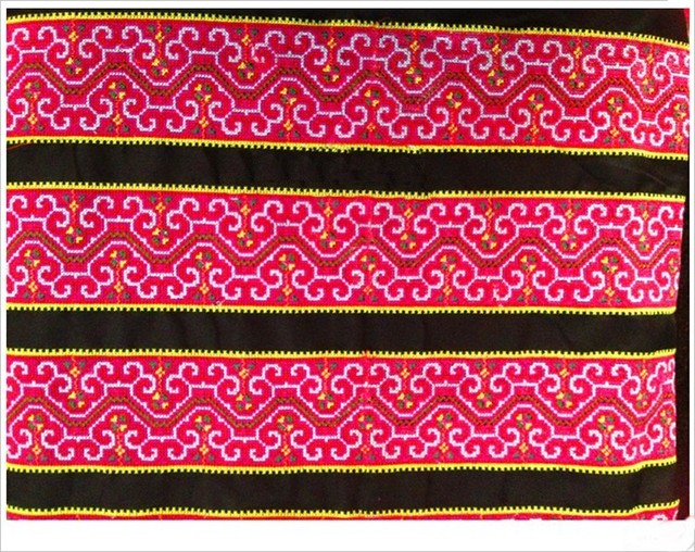 Aliexpress Buy Miao Hmong Embroidery Crochet Cotton Fabric