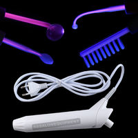 Portable High Frequency Machine With 4 Pieces Violet Orange Ray Electrodes Anti aging Acne Care Beauty Facial