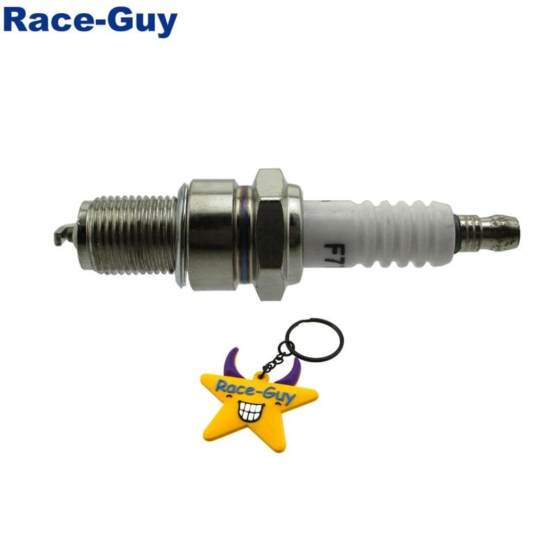 Race-Guy F7TC Spark Plug For GX120 GX160 GX200 GX240 GX270 GX340 GX390 Generator Lawnmower Water Pump Go Kart Mini Bike 1