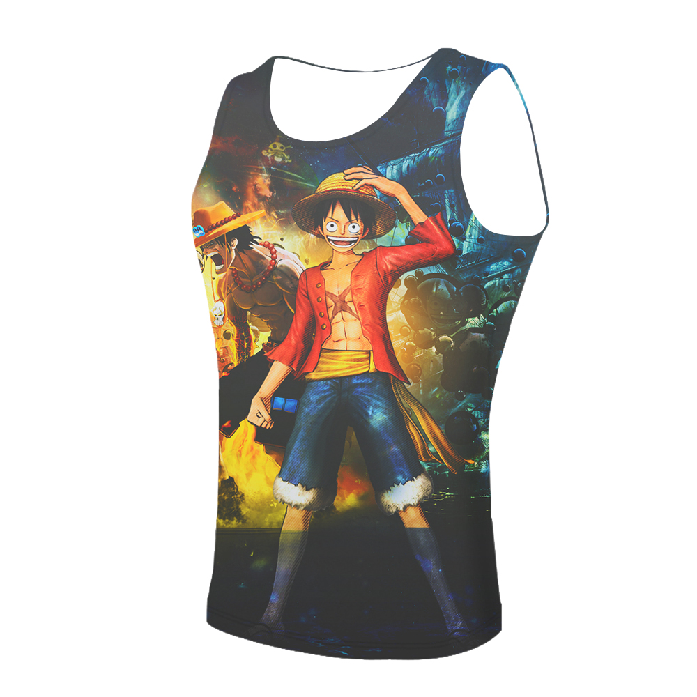 One Piece Cute   Tank     Top   Men 3D harajuku style FItness Clothing Punk   Tank     tops   Sleeveless Shirt 2019 anime Funny Printed vest
