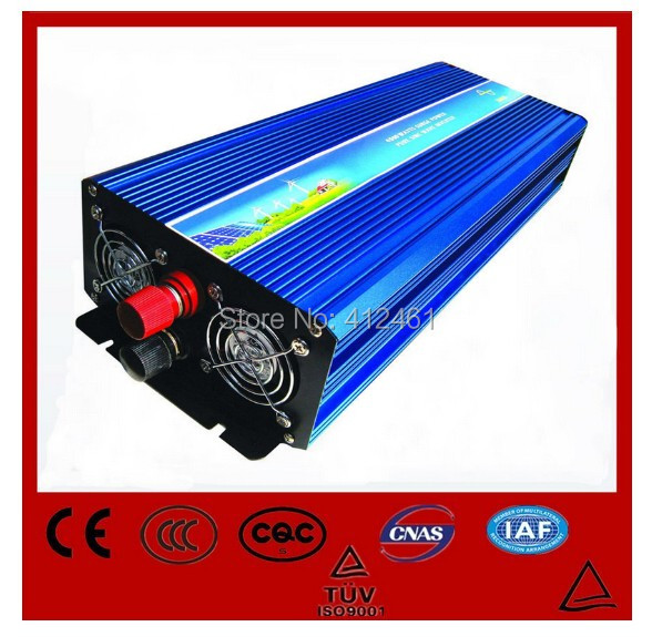 цена на Free shipping DC24V to AC220V CE RoHs power inverter 5000W pure sine wave power inverters 5KV solar power inverter, car inverter