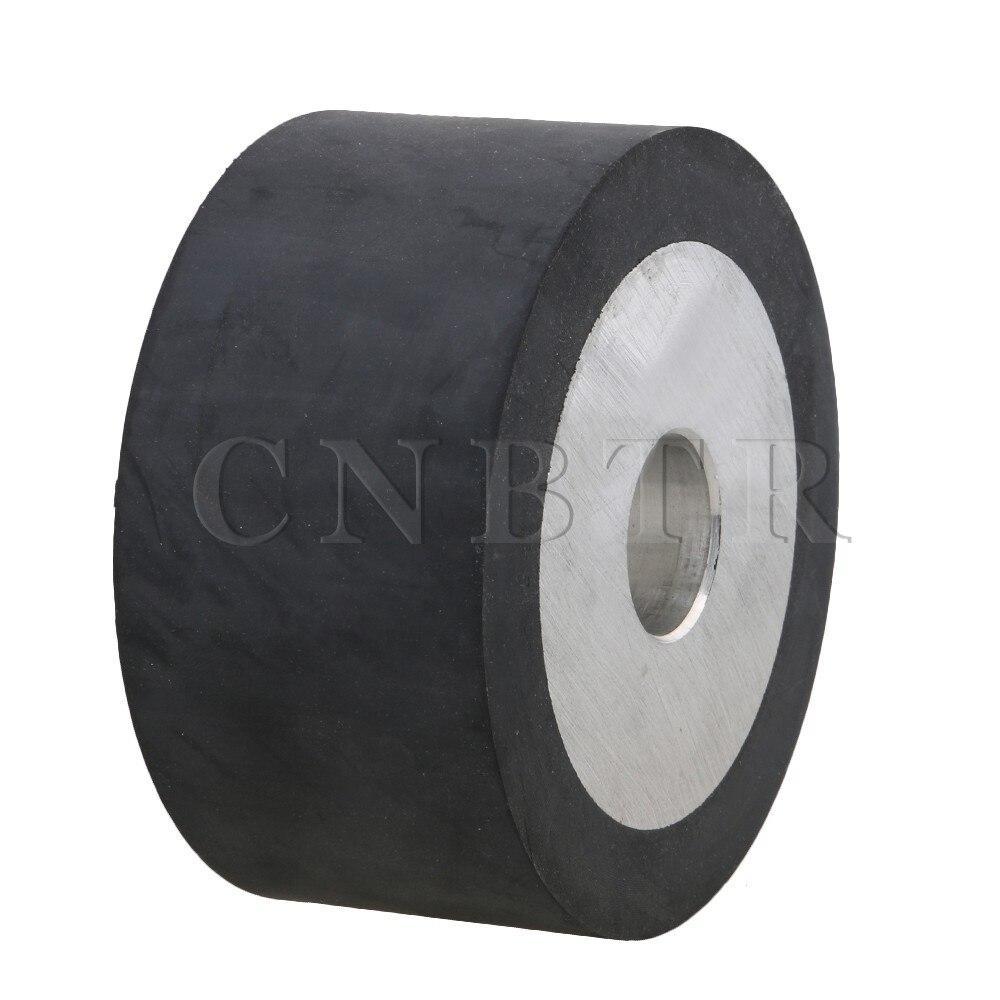 CNBTR 100mm Aluminum Core Belt Grinder Rubber Wheel for Bearings Belt Grinder 100 100mm grooved rubber wheel belt grinder part
