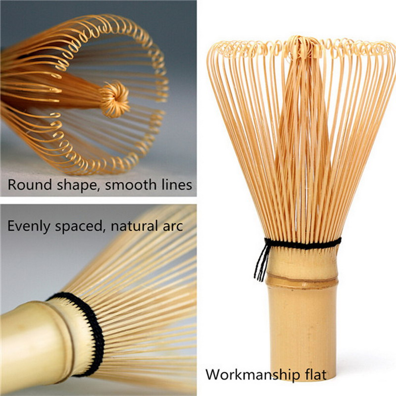 Japanese Tea Brush Practical Matcha Tea Powder Bamboo 64 Whisk Green Tea Chasen Brush Tool
