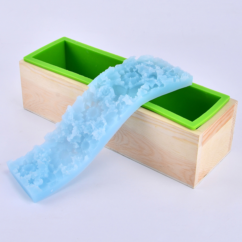 Silicone Render Loaf Soap Mold Set Handmade Soap Mould with Transparent Vertical Acrylic Clapboard Flower Mat in Soap Molds from Home Garden