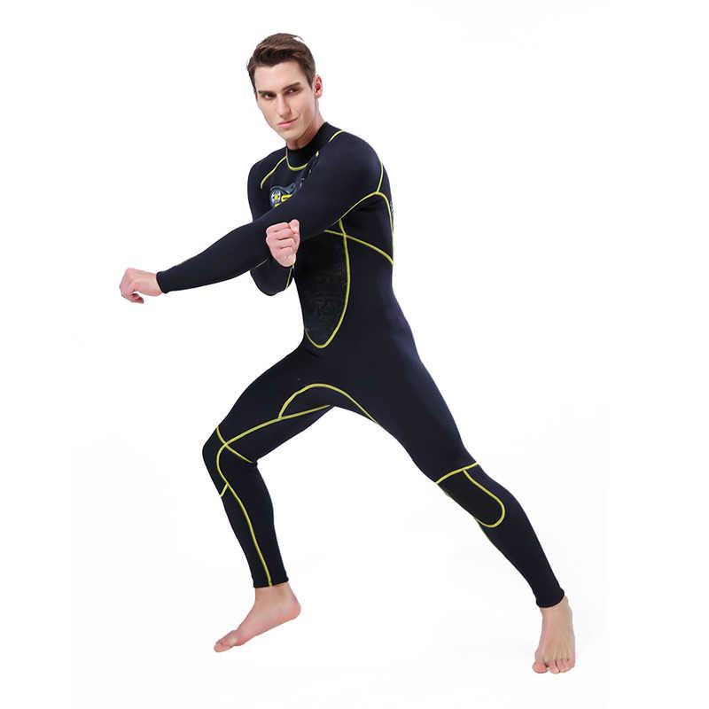 Wetsuit Mannen Duiken 3mm Duikpak Neopreen Lange Volledige Bodysuit Zwemmen Wetsuit Surf Triathlon Badpak Voorkomen Kwallen