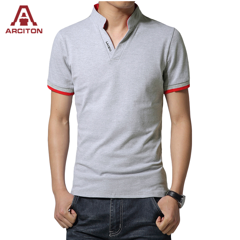 cf4177425c 2017 Fashion Cotton Polo Shirt Men Summer Solid Mandarin Collar Polo Shirts  Casual Solid Camisa Polo(N-835)