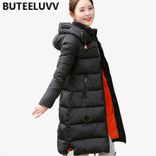 2016 Women s Grey Duck Down Winter Jacket Warm Keep Outerwear Long Thick Hooded Cotton Coat