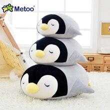 Metoo Penguin Pillow Plush Toys Stuffed Dolls New Year Birthday Gift Toys for Girls Soft Seat Cushion Penguin Throwpillow