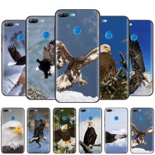 Black Silicone Case Bag Cover for Huawei Honor 10i Y7 Y6 Y5 Y9 8X 8C 8S 9 10 Lite Pro 2018 2019 Enjoy 9E 9S Eagle on the Tree(China)