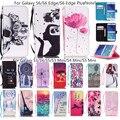 Мода Смазливая Шаблон Печатной Бумажник Case для Samsung Galaxy S3 S4 S5 мини S6 Edge Plus Примечание 5 PU Кожа Флип Кремния Крышку Отсека Для Карты