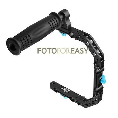 FOTGA DP3000 C-Shape Support Cage Bracket + Impugnatura superiore per asta DSLR rig 15mm