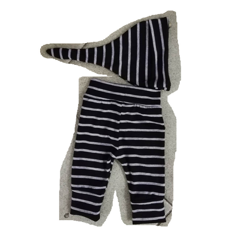 50pcs Pack Newborn Toddler Baby Girls Boys Pants Black White Striped Bottom Spring Autumn Full Length
