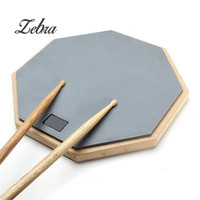Zebra Hot Sale 12 Silica Gel Practice Drum Pad Silence Drum For Beginner Musical Instruments