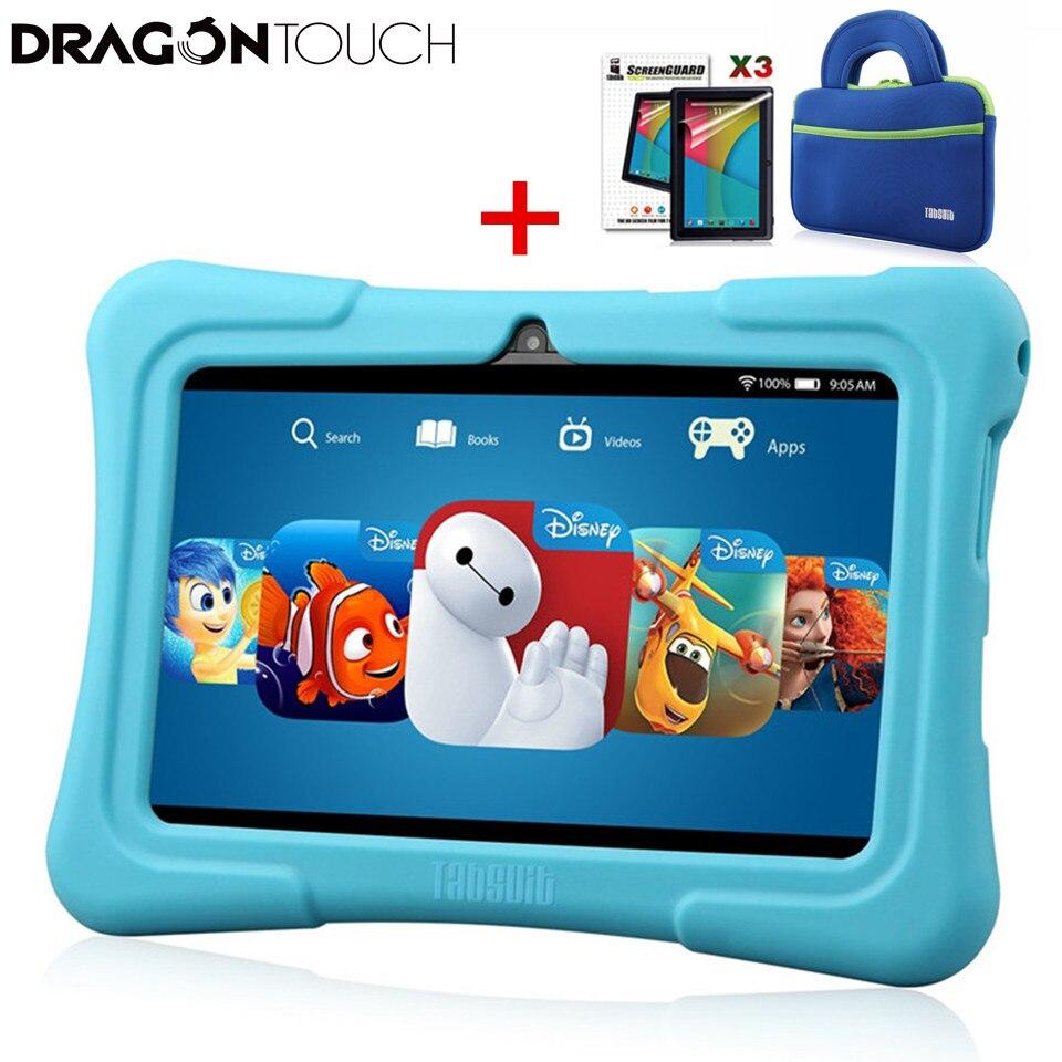 Дракон сенсорный Y88X плюс 7 дюймов детский планшет четырехъядерный процессор Android 7,1 Lollipop ips дисплей Kidoz предустановленный лучший рождественс...