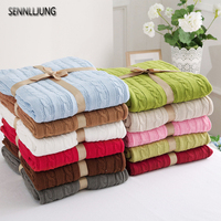 Hot Sale High Quality 100 Knit Blanket For Summer Autumn On Sofa Bed Home Knit Blanket
