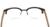 Perseguindo marca 2016 homem retro óculos de armação armações de acetato handmade listrado pernas espelho cs11002h