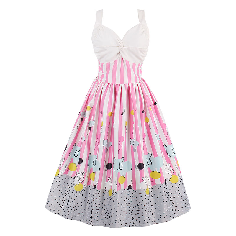 Sisjuly vintage vestidos 1950 s Partido mujeres ropa retro o-cuello ...