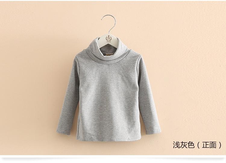 2018 Spring Autumn 2-10T Years Children'S Candy Color Sweet Long Sleeve High Neck Unisex Kids Girl Boy Basic Turtleneck T-Shirt (16)
