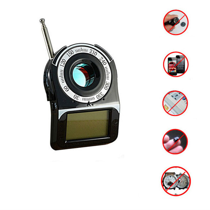 CC-309 Anti-Spy Full Band Signal Bug RF Detector Camera Laser Lens GSM Finder Portable Wireless Detector Anti Eavesdrop Monitor 1 pcs wireless signal finder anti spy full range rf camera detector protable gsm sensor mini hidden camera use in hotel