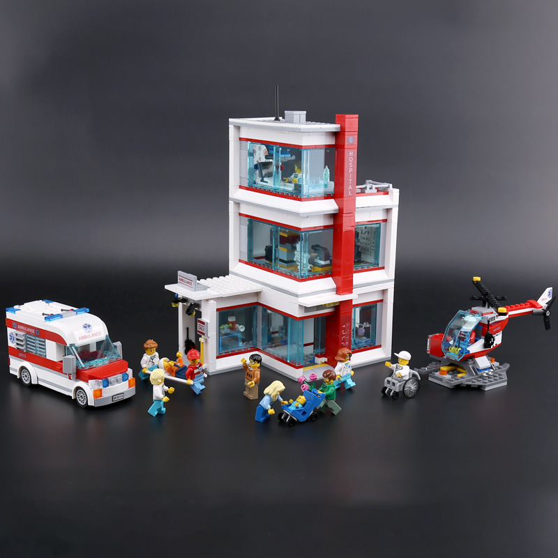 Lepin 02113 Kids Toys Compatible With Legoinglys 60204 City Hospital Set Building Blocks Bricks Funny Kids Toys Christmas Gifts