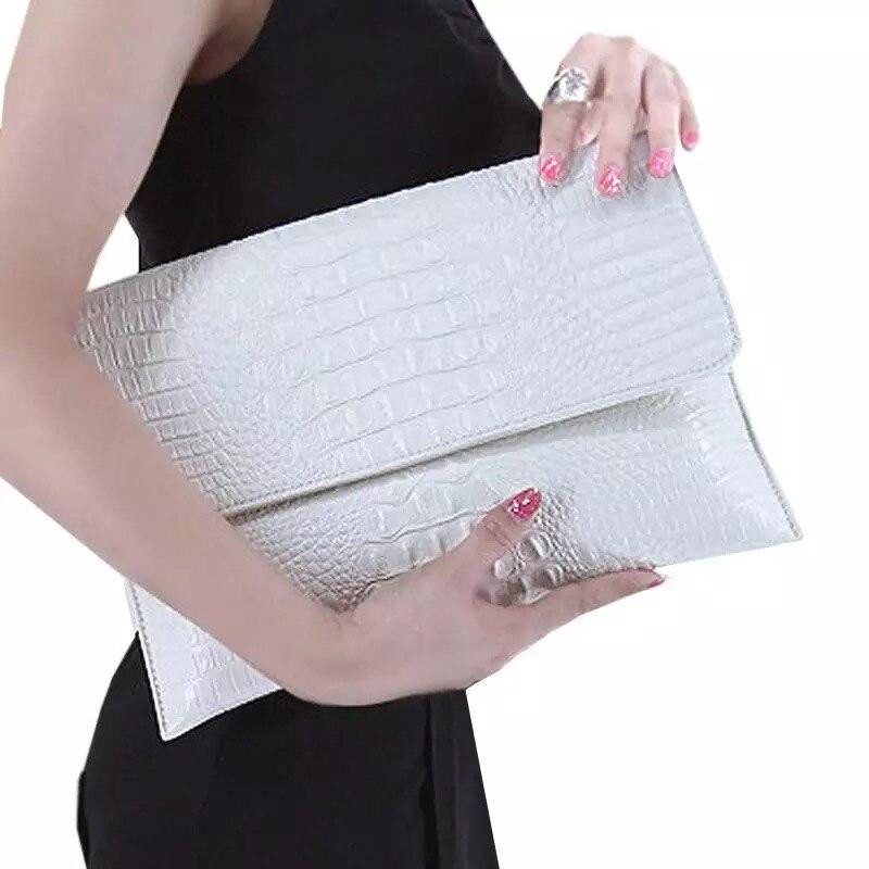 2018 Krokodil Kupplung Tasche Weibliche Luxus Designer Handtaschen Hohe Qualität Echtes Leder Tasche Frauen Schulter Abend Tasche Elegante Eine GroßE Auswahl An Waren