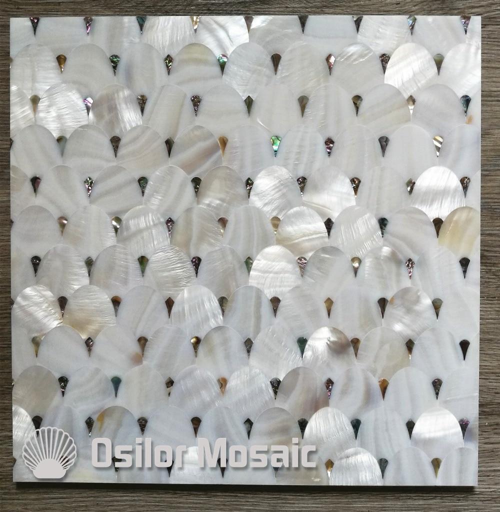 Ушка и китайский пресноводных оболочки перламутр плитка для интерьерные украшения дома облицовки стен