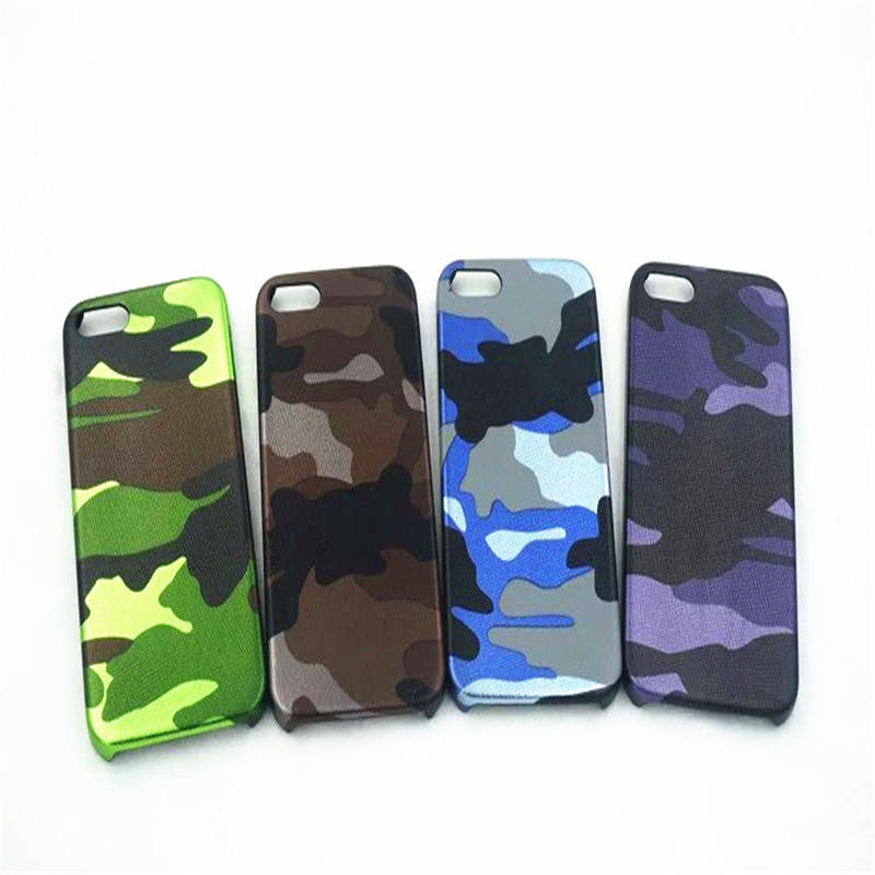 Army Green Leather For Iphone 6 6s 7 8P X Xs Xr Max Ultra-Thin Soft Set Camouflage Phone Case