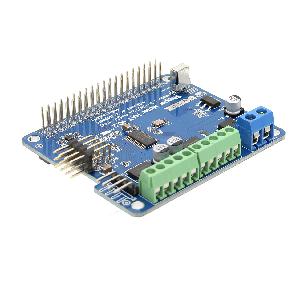 Raspberry Pi 3 B+ Motor HAT Stepper Servo Motor IR Remote Robot Expansion Board Module For Raspberry Pi 3 Model B+ Plus / Pi 2B