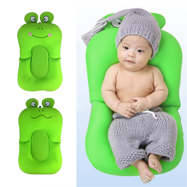 Frog Shape Foldable Baby Bathtub Bathing Cushion Shower Newborn Baby Bath  Mat Soft Seat Infant Bathtub