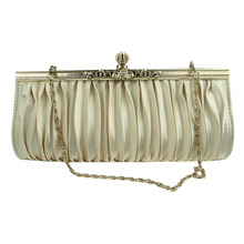 Vintage Diamond Crystal Beaded Clutch Bags Party Wedding Bride Woman Luxury Evening Hasp Lock Ruffles Clutches Bag Handbags