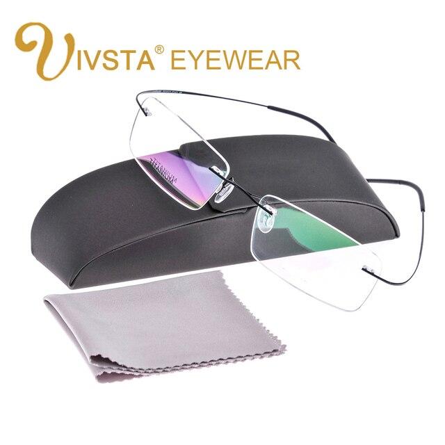 С Оригинальным Случае Titanium Очки Мужчины Марка логотип Без Оправы очки Женщин Оптически Рамки Рецепт e1050