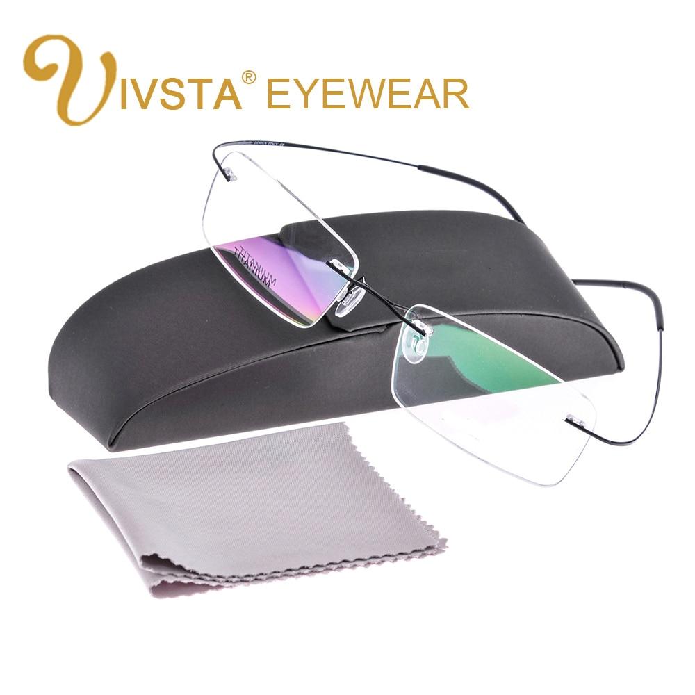 IVSTA with Original Case Titanium Glasses Men Frame Titanium Eyeglasses Rimless Optical Frame Women e1050 Silhouett Brand Logo