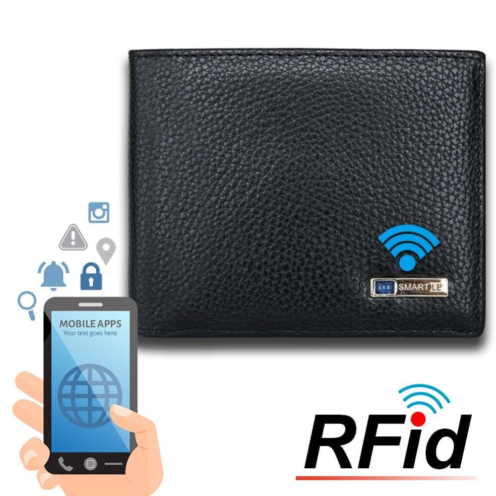Modoker RFID Echtem Leder Männer Smart Brieftasche 2018 Geldbörse Anti-Dieb Karte Halter GPS Karte Tracking