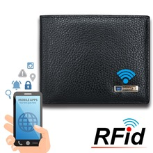 цены Modoker RFID Genuine Leather Men Smart Wallet 2018 Purse Anti-Thief  Card Holders GPS Map Tracking